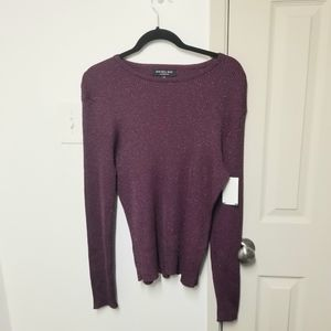 Nwt Rachel roy shimmer knit sweater